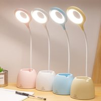 Table lamps smart home dimming three-stage with touch switch USB light 5v 360° twist , used for students to read and bedroom reading T20274