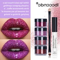 Ibcccndc DIY Glitter Liquid Lipstick Shiny Lip Gloss Diamond Waterproof Long Lasting Lipgloss Kit 4pcs set