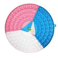26 cm Fidget Push Bubble Popper Puzzle Color Patchwork Cerchio Scacchiera Zegazione Bolle Pop Board Sensory Toys multiplayer Grandi Dice Chessboard Bubble G72HU0b