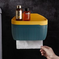 Toilet Paper Holders 045 Multi Tissue Holder Nordic Wind Stripe Color Contrast Belt Mobile Phone Rack Storage Box Shelf