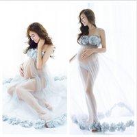 임신 한 여성을위한 출산 드레스 출산 사진 소품 임신 드레스 사진 촬영 사진 옷 가운 2008 Y2