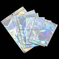 Housekee Organization Home & Garden100Pcs Bath Salt Cosmetic Bag One Side Clear Holographic Laser Mini Aluminum Foil Bags Thick Package Orga