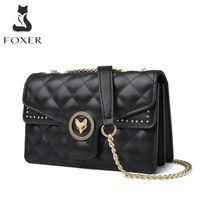 HBP FOXER Diamond Crossbody Bags Women's Shoulder Bags Lady Casual Fashion Mini Cross Body Purse All-Match Messenger Bag for Female