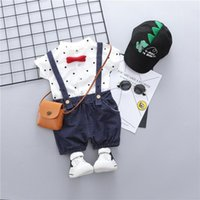 Clothing Sets HYLKIDHUOSE Gentleman Style Baby Boys Toddler Infant Summer Casual Clothes Outfit Kids Children Dot Shirt Shorts