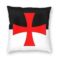Kissen / dekorative Kissen Ritter Templar Flagge Kissenbezug 40x40 Wohnkultur Drucken Mittelalterliche Kriegerkreuzwurf Für Wohnzimmer Doppelseite