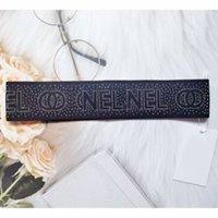 Mujeres niña letra elástica diadema deporte yoga jogging rhinestone hairband blanco negro moda accesorios para el cabello