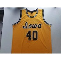 Jersey de basquete homens juventude mulheres vintage # 40 chris street iowa hawkeyes faculdade jerseys feito sob encomenda tamanho costurado s-5xl