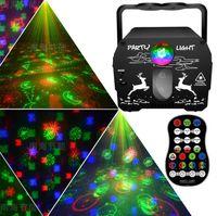 64 Patronen DJ Disco Laserverlichting USB LED Geluid geactiveerd RGB Party Lamp Strobe Projector Stage Lights voor Xmas Family Wedding Bar