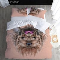 Bedding Sets Pet Dog Printed Twin Full Queen King Size Animal Quilt Cover And Pillowcase Duvet Set For Children Adult