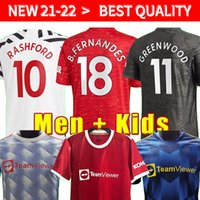플레이어 버전 20 21 22 FC 맨체스터 Bruno Fernandes Pogba 축구 유니폼 2020 2021 2022 Lingard Rashford 축구 셔츠 Mankids 축구 키트
