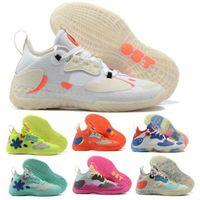 James Harden Vol.5 Hommes Basketball Chaussures Sneakers Solaire Jaune Filets Rouges Support Icey Pink Futurenatural Blanc 2021 MVP Sport Sport Tissu Entraîneur Chaussure