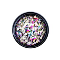 Nail Art Kits 1 Box Mixed 3D Rhinestones Decorations Crystal Gems Jewelry Gold Shiny Stones Charm Glass Manicure Accessories Colorful
