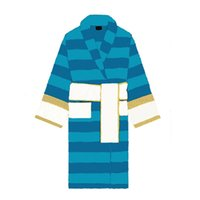 커플 블루 편지 자카드 목욕 rolem unisex 코 튼 타월 홈 착용 목욕 가운 목욕 후 긴 잠옷