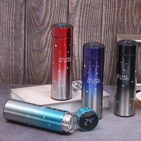 500ML Insulated Water Bottles Temperature Display Vacuum 304 Stainless Steel Mugs Kettle Thermo Cups With LCD Touch Screen Gift Product