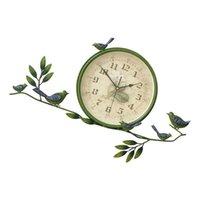 Wall Clocks 1pc Iron Art Clock Pendant Decorative Hanging Simple Decor (Green)