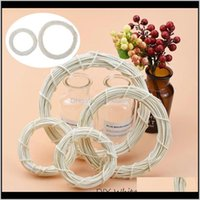 Flowers Wreaths Festive Supplies & Garden Drop Delivery 2021 15 20Cm White Rattan Ring Artificial Wreath Hanging Garland Dried Flower Frame H