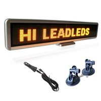 22x4.3 بوصة LED سيارة علامة 16x128 علامة صفراء الصمام التمرير رسالة تسجيل السيارات عرض ويندوز عرض