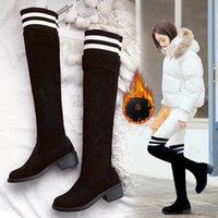 Boots Single Monkey Women Over The Knee High Fashion 2021 Winter Warm Snow Sock Woman Long Botas Sexy Female Mujer