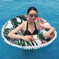 Aufblasbarer Schwimmring mit superfeiner Faserdruck Strandtuch Floating Floß-Röhrchen für Pool-Hinterhof Outdoor-Spielzeug Floats-Röhren