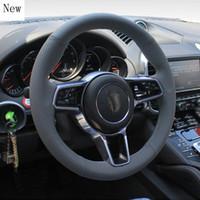 Pour Panamera Macan 718 911 Haute Qualité DIY Cuir Suisse Cousual Couvercle de la voiture Couvercle de roue Set Accessoires Couvre