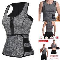 Yoga Outfit Waist Trainer Vest Slim Corset Neoprene Sauna Tank Zipper Weight Loss Body Shaper Shirt Shapewear For Women