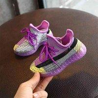 AOGT 봄 아기 신발 니트 통기성 유아 소년 소녀 신발 소프트 편안한 유아 운동화 브랜드 아이 신발 210728