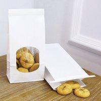 Carta da cucina Kraft Food Footking Square Borsa inferiore Packaging a prova di olio Imballaggio da asporto Stoccaggio Sigillato Imballaggi da castagne Borse Borse Dimensioni 120 * 65 * 246mm