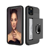 Holder Ring phone Cases For Samsung Iphone 6 7 8 Plus X XR 11 12 Pro Max Colorful Slide Cover Card
