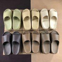 2021 Kanye Slides Hausschuhe Knochenharz Wüste Sand Schaum Runner Ararat Gummi West Mode Sommer Saison 6 Braune flache Männer Frauen Slide Beach