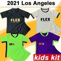 2021 Los Angeles FC Kit Kit Kit de fútbol Jerseys Lafc Rossi Vela Inicio Black Away Football Shirt Bendición Diomande Manga corta Jersey Jersey Child Traje
