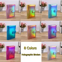 Glitter Filing Folder Empty Notebook Binders A5 A6 Holographic Budget Binder 6 Ring Hole PU Leather Covered Loose Leaf Spiral Planner without Inner Paper Custom Logo