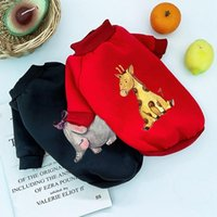 Dog Apparel Autumn Winter Pet Clothes Warm Puppy Sweatshirt Hoodies Plus Velvet Teacup Coats Cute Cartoon Christmas