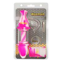 Waxmaid 도매 꿀 컬렉터 키트 흡연 액세서리 미니 유리 DAB 조작 오일 버너 CA 로컬 창고에서 우주선