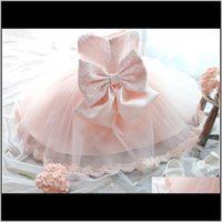 Girls Dresses Baby Clothing Baby, Kids & Maternitywholesale- Summer Solid Bow First Years Birthday Baptism Dress Costumes Toddler Born Prince