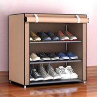 Уровень 3-interlayers Обувь стойка для домашнего использования с нетканым покрытием ткани NWSR-5 Художественное хранение