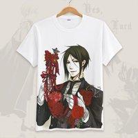 Ankomst Rolig Black Butler Men T Shirt Sommar Sebastian Cosplay Kortärmad Tee Toppar Kvinnor Anime Shirts Homme