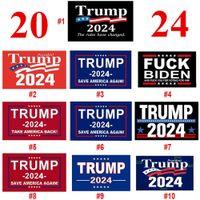 Transporte rápido Donald Trump Flags 3x5 FT 2024 Re-eleito Take America Voltar bandeira com bronze ilhós patrióticos Ao ar livre decoração interior Banner Atacado