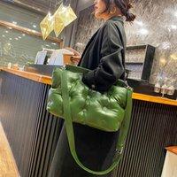 Evening Bags 2021 Fashion Women Shoulder Crossbody Bag Pu Tote Women's Large Capacity Handbags Luxury Cloud Space Cotton Top-Handle