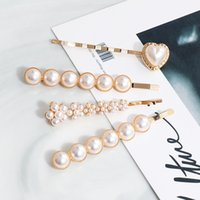 New Styles pearl hairpin Korean version of the network red hair card a word folder ins girl bangs clip BB clip adult headwear JCF061