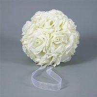 الزخرفية الزهور أكاليل 15x21 سنتيمتر اليدوية الاصطناعي ارتفع تقبيل شنقا الكرة diy باقة المنزل حفل زفاف ديكور clh @ 8