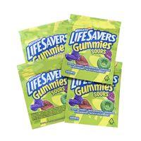 saure saure gummies lebensanhänger medizinische kunststoffverpackung tasche 420 essbare paket 500mg gummi-süßigkeitszweiggeruch