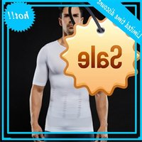 Mens Safety Waist Trainer Underwear Slimming Body Shaper Shirt