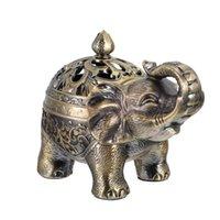 1 stück Metall Weihrauchbrenner Elefant Modellierung Zenserhalter Desktop-Duftlampen