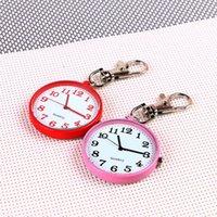 Pocket Watches Quartz Watch Keychain Clocks Round Dial Portable Simple Pendant For Women Men Gifts Fashion