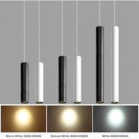 LED 노르딕 펜던트 램프 미니멀리스트 크리 에이 티브 긴 튜브 교수형 램프 30cm 40cm 50cm 아트 장식 천장 조명 현대 조명기구 레스토랑 분위기 빛