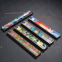 Keramik Email Weihrauch Stick Halter Brennen Jossen Insenz Box Brenner Aschefänger Home Räucherstein Brenner HHF6841