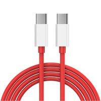 أحمر سريع سريع فلاش تهمة كابل 1 متر 1.5 متر 2 متر نوع c to type C PD USB كابل لسامسونج S10 S20 S21 HTC LG ONE PLUS 8T 9 PRO Android الهاتف