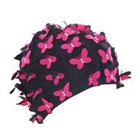 Doble perla protección de la oreja natación gorra mujer chicas gorras