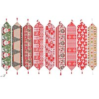 Tavolo in tessuto natalizio Runner 180 * 35 cm Merry Xmas Kitchen Tables Decorazioni RRD11246