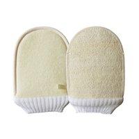 LOOFAH NATURALE Guanti da bagno Brushes Brushes Soft Exfoliante Bagno Doppia Lasciatura Pulizia del corpo Pennello per massaggio GWB7226